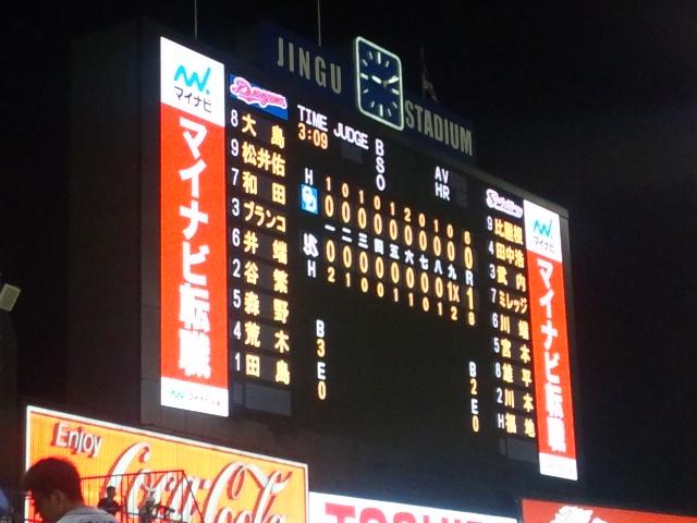 山内好投も田島9回に力尽きる。DRAGONSレジェンドシリーズ神宮で勝てず!