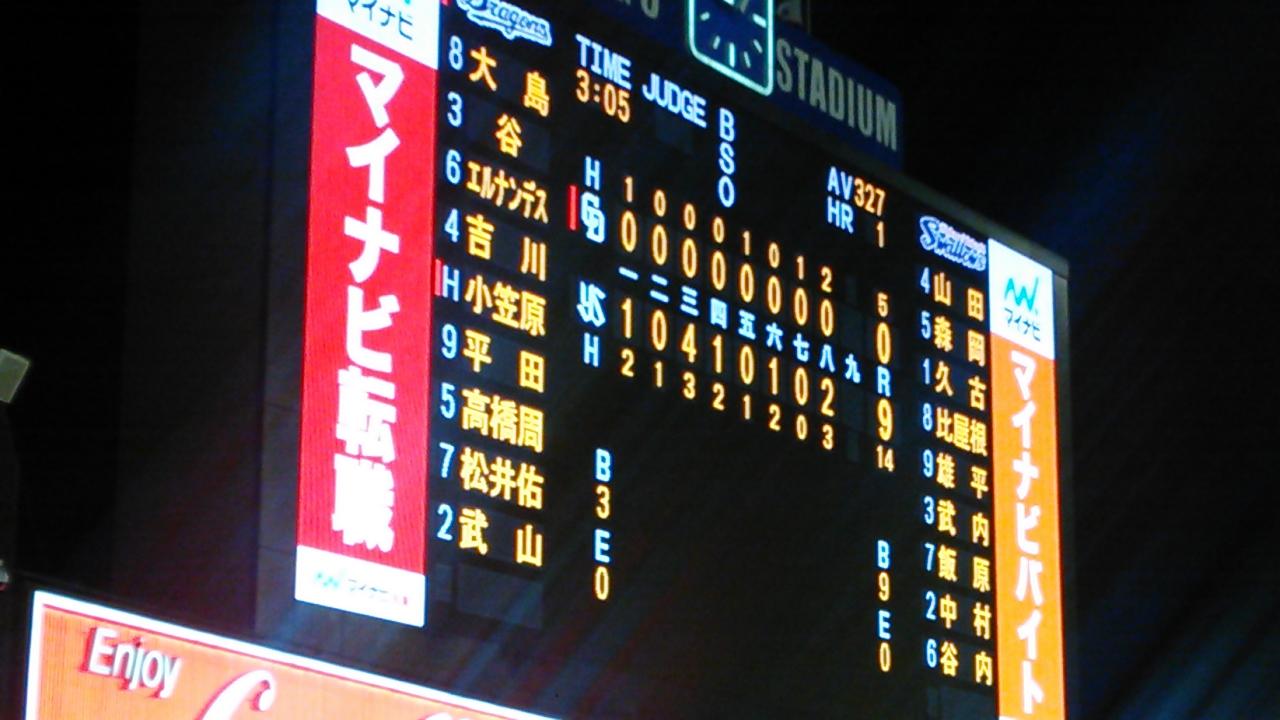 山井4回6失点、試合作れずDRAGONS連敗