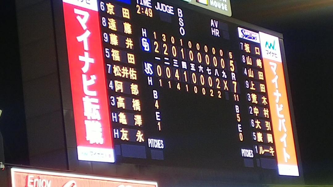 大野4点守れず、祖父江坂口に決勝打許す