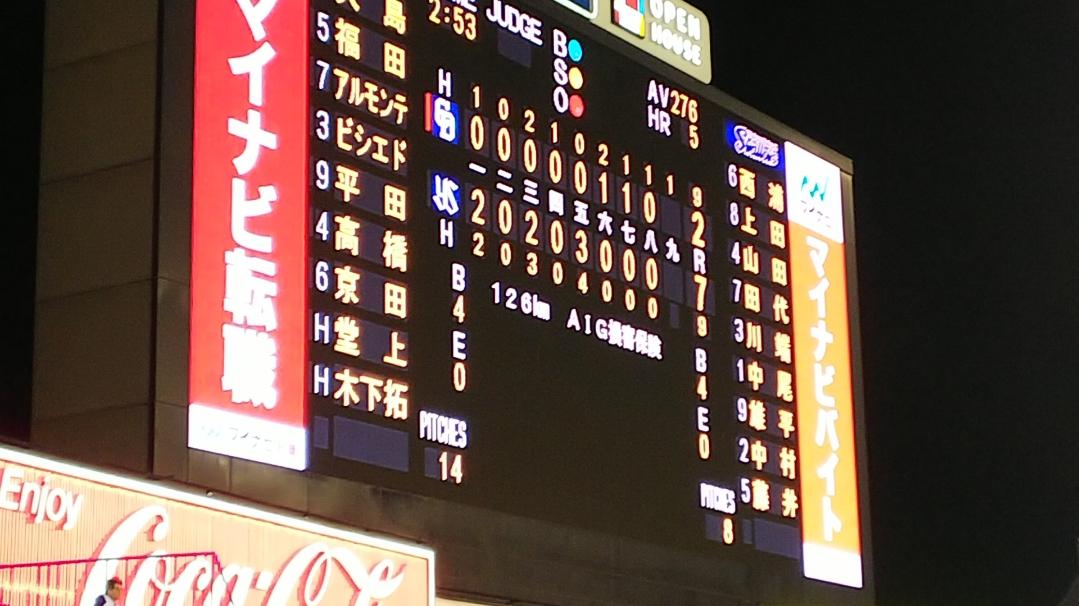 先発藤嶋、5回7失点と乱調